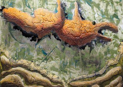 20-12, Oil on HDF 50 x 40 cm - JUERGEN NEUMANN